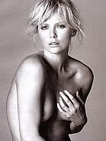 Charlize Theron b&w as Marilyn and nude pics