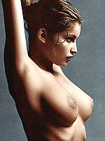 Laetitia Casta see through runway and naked pics