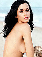 Katy Perry sexy and braless posing mag scans