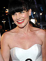 Pauley Perrette legs at Peoples Choice Awards