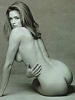 Cindy Crawford hot nude b&w scans
