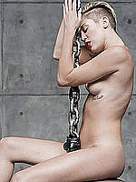 Miley Cyrus naked at Wrecking Ball images