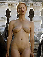 Lena Headey fully nude in Game of Thrones