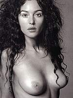 Monica Bellucci black&white sexy and nude scans