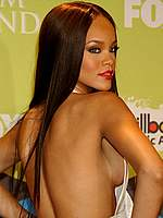 Rihanna showing half a boob at Billboard ceremony