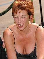 Lauren Holly cleavage paparazzi shots