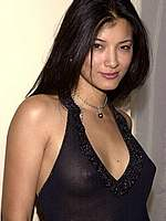 Kelly Hu in bikini and see through photos