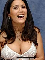 Busty Salma Hayek deep cleavage photoshoot
