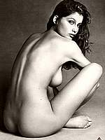 Laetitia Casta b-&-w topless and fully nude pics