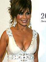 Paula Abdul showing big cleavage at redcarpet
