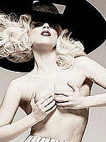 Lady Gaga shows and grab her nude tits scans