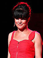 Pauley Perrette looking sexy at fashion show