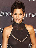 Halle Berry in short dress paparazzi shots