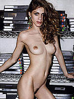 Elisa Sednaoui posing topless and fully nude