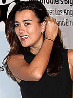 Cote de Pablo sexy posing at fashion show