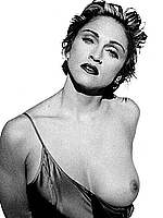 Madonna sexy and topless black-&-white scans