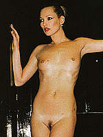 Kate Moss posing sexy, topless and fully nude