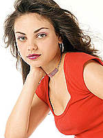 Mila Kunis non nude posing scans from mags