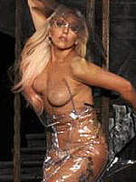 Lady Gaga sexy and topless posing photos
