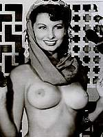 Sophia Loren b-&-w sexy and topless retro pics